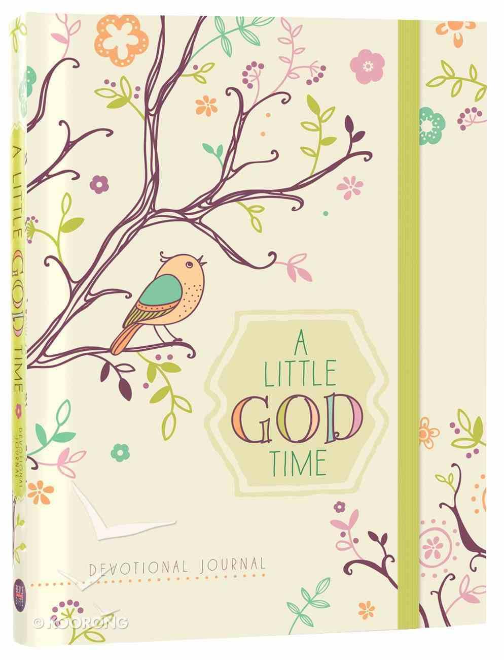 A Little God Time Devotional Journal (Elastic Band Book Marker) Hardback