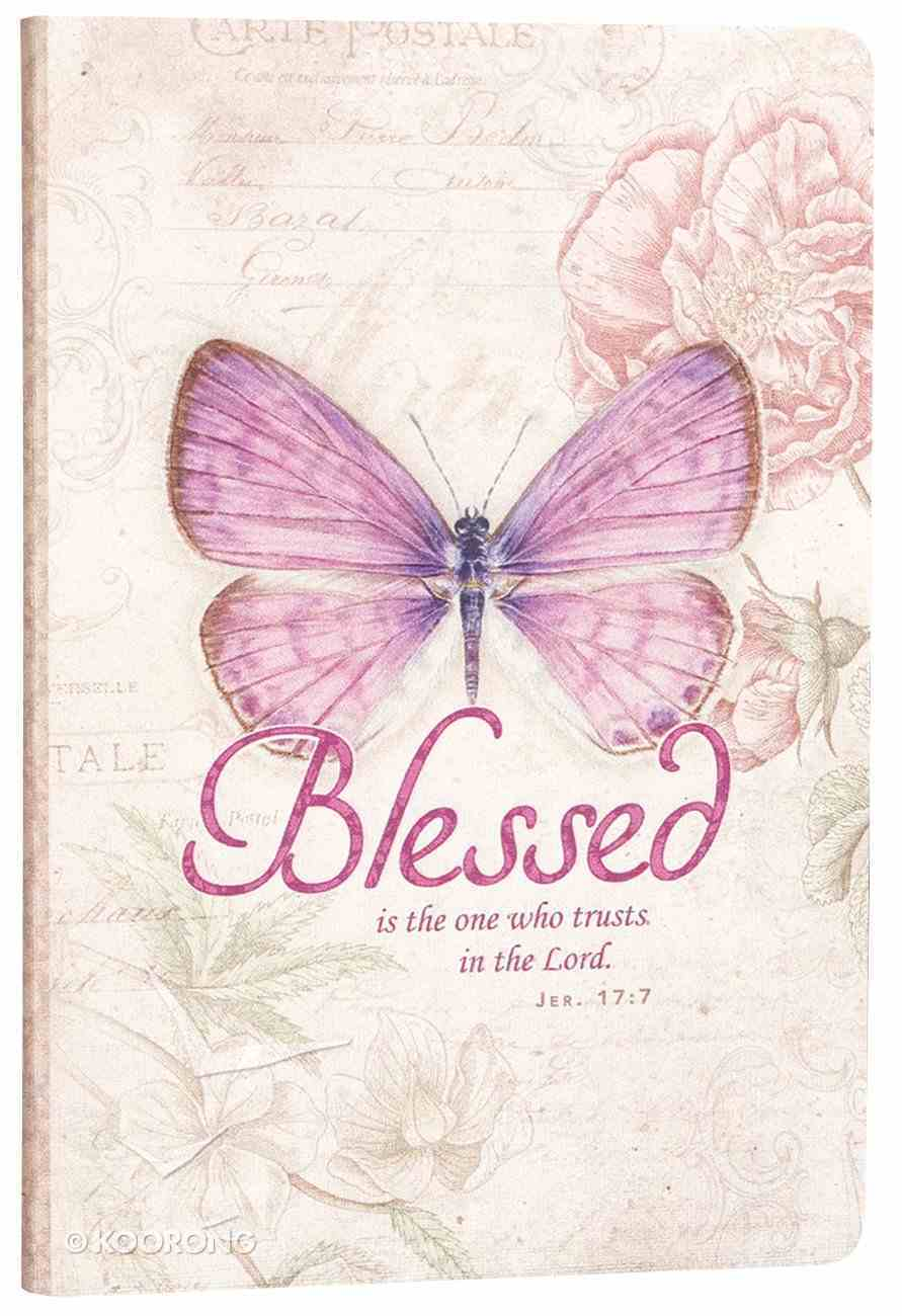 Silky-Soft Printed Journal: Blessed Butterfly/Purple Luxleather Imitation Leather