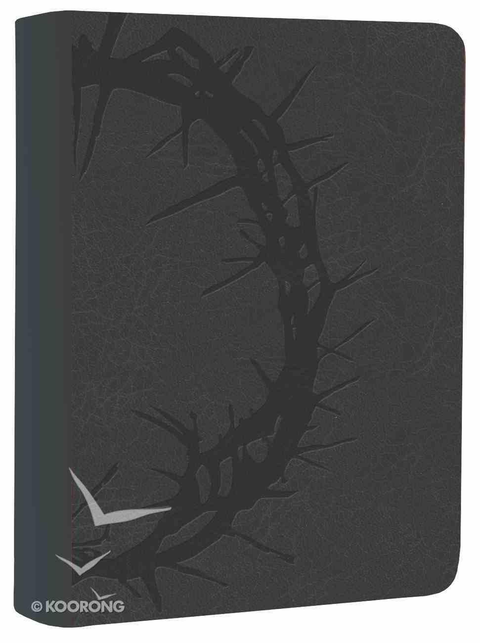NKJV Large Print Compact Reference Bible Charcoal Premium Imitation Leather