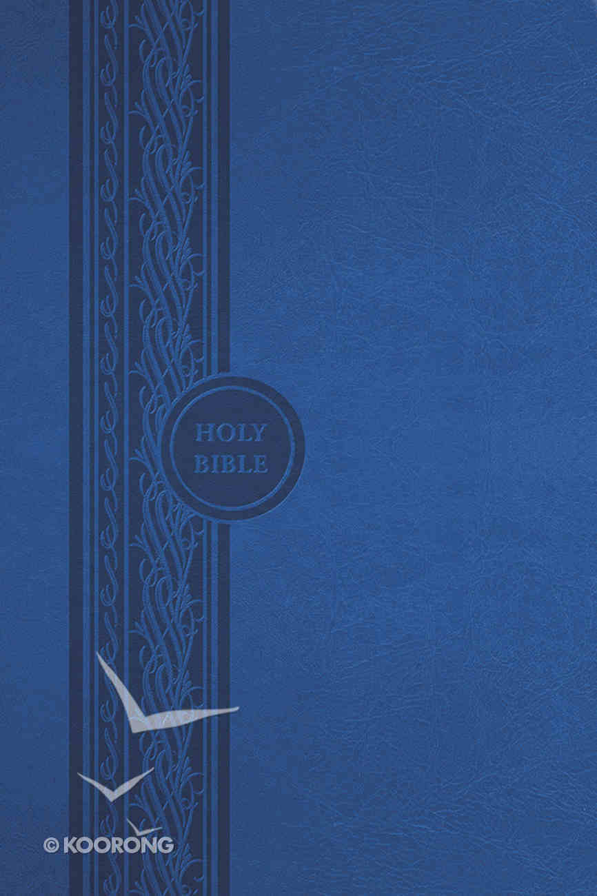 MEV Thinline Reference Bible Blue Imitation Leather