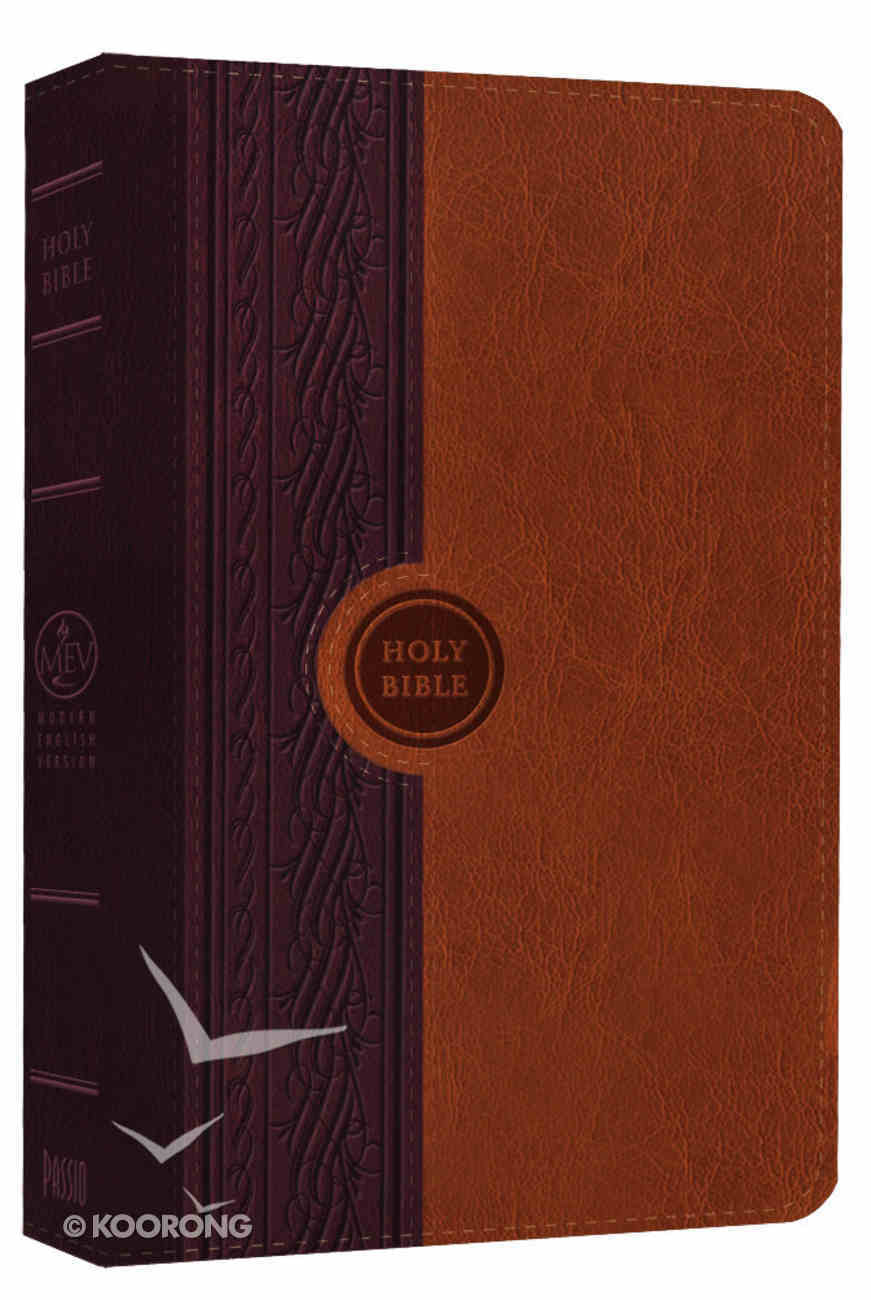 MEV Thinline Two-Tone Reference Bible Chestnut/Brown Imitation Leather