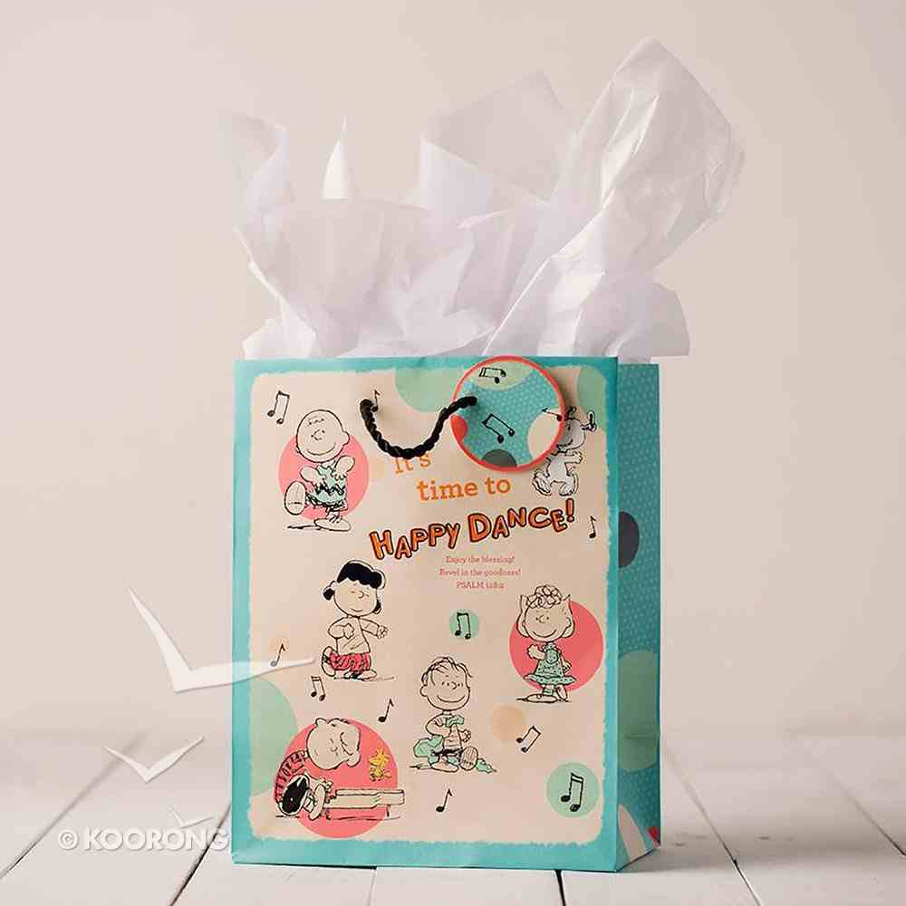 Gift Bag Medium: Peanuts Happy Dance! (Incl Two Sheets Tissue Paper & Gift Tag) Stationery