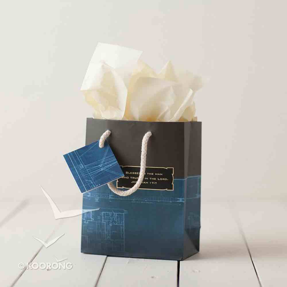 Gift Bag Small: Noble Blueprint (Incl Two Sheets Tissue Paper & Gift Tag) Stationery