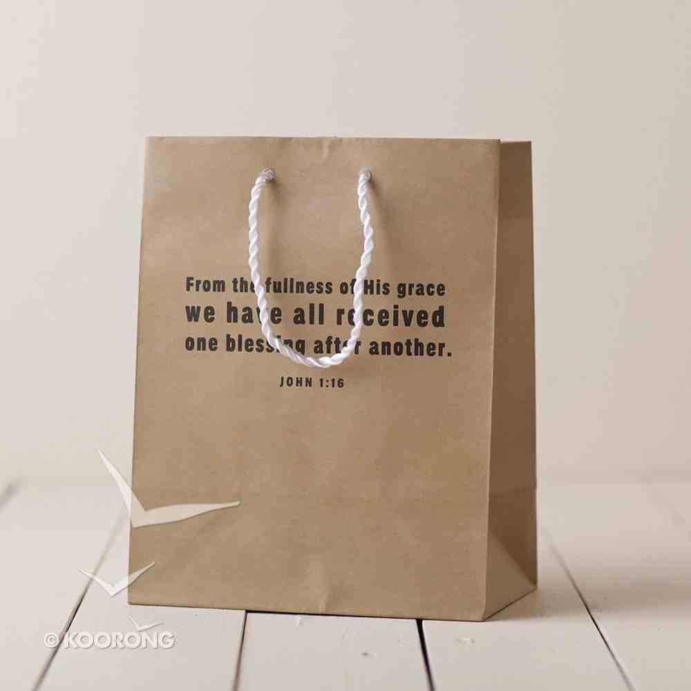 Value Gift Bag Medium: Craft Brown (John 1:16) Stationery