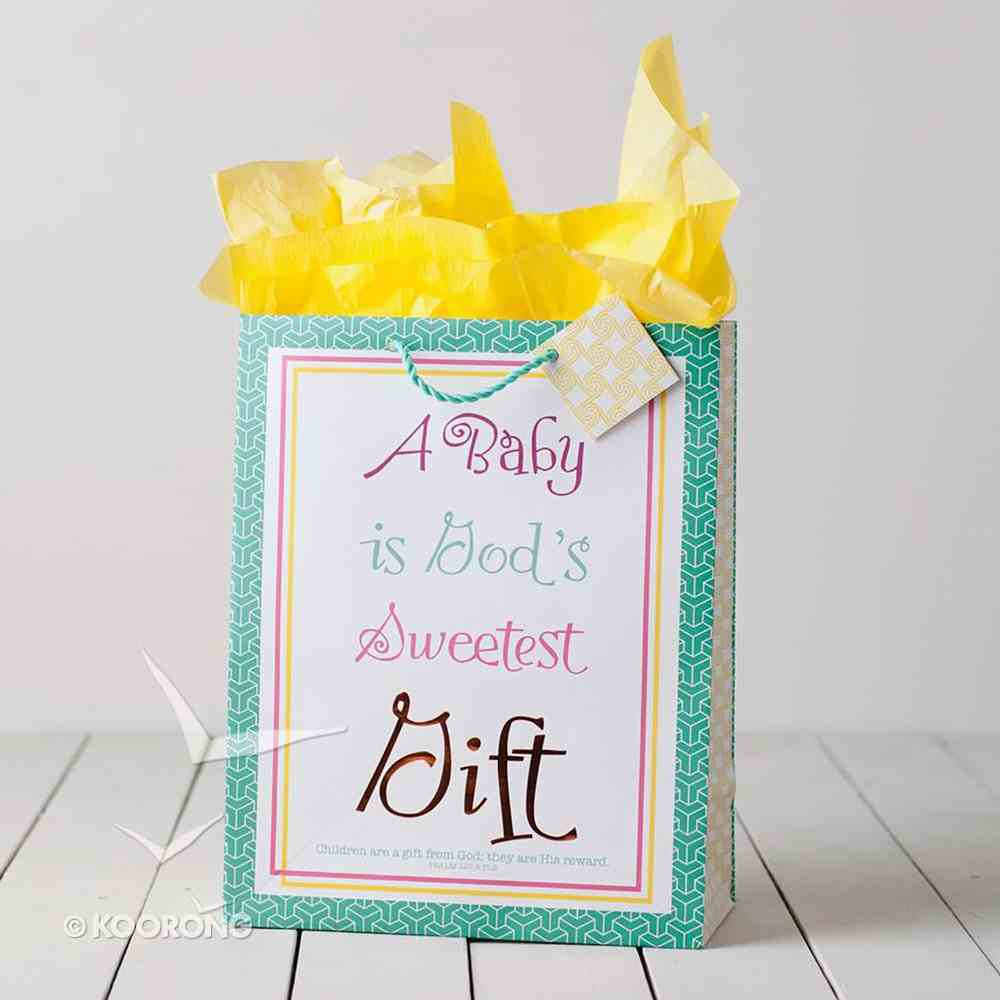 Gift Bag Large: Bright Baby (Incl Tissue Paper & Gift Tag) Stationery