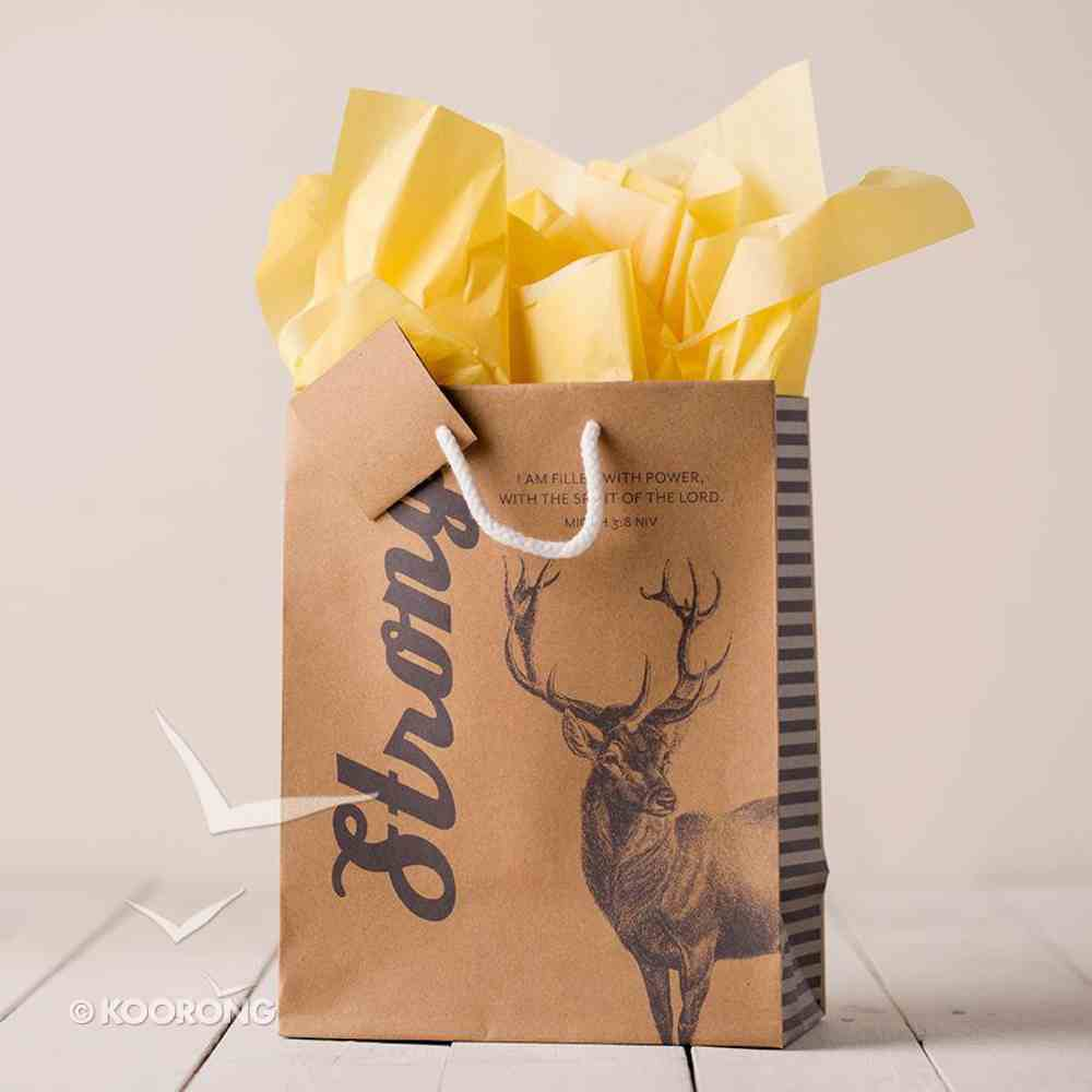 Gift Bag Medium: Strong (Incl Two Sheets Tissue Paper & Gift Tag) Stationery