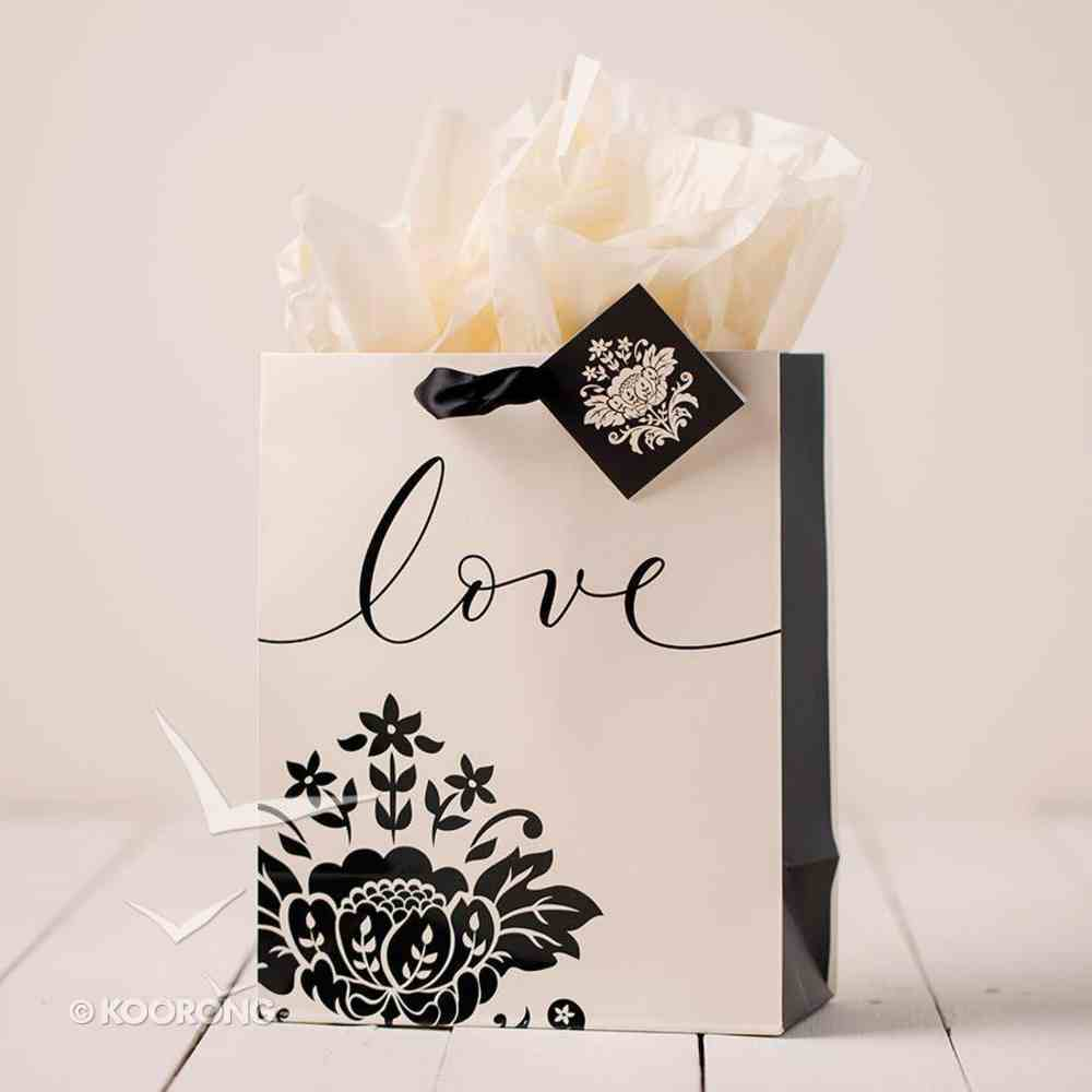 Gift Bag Medium: Love (Incl Tissue Paper & Gift Tag) Stationery