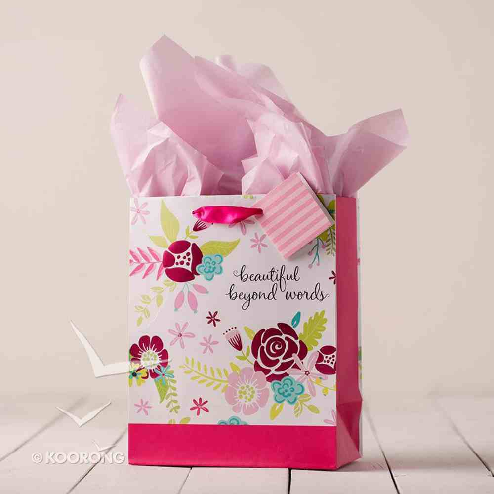 Gift Bag Medium: Beautiful Beyond Words (Incl Tissue Paper & Gift Tag) Stationery