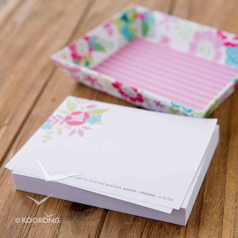 Stationery Tray & Notes: Proverbs Woman, Proverbs 11:16 Stationery