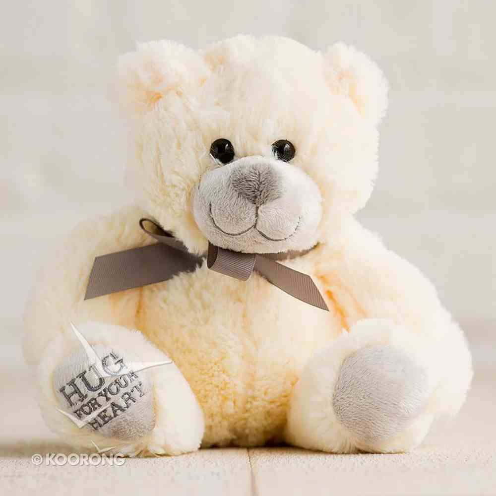 Hug For Your Heart Bear: Hug For Your Heart, Tan/Brown Ribbon Soft Goods