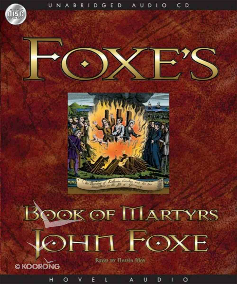 Foxe's Book of Martyrs (Mp3 Unabridged) CD