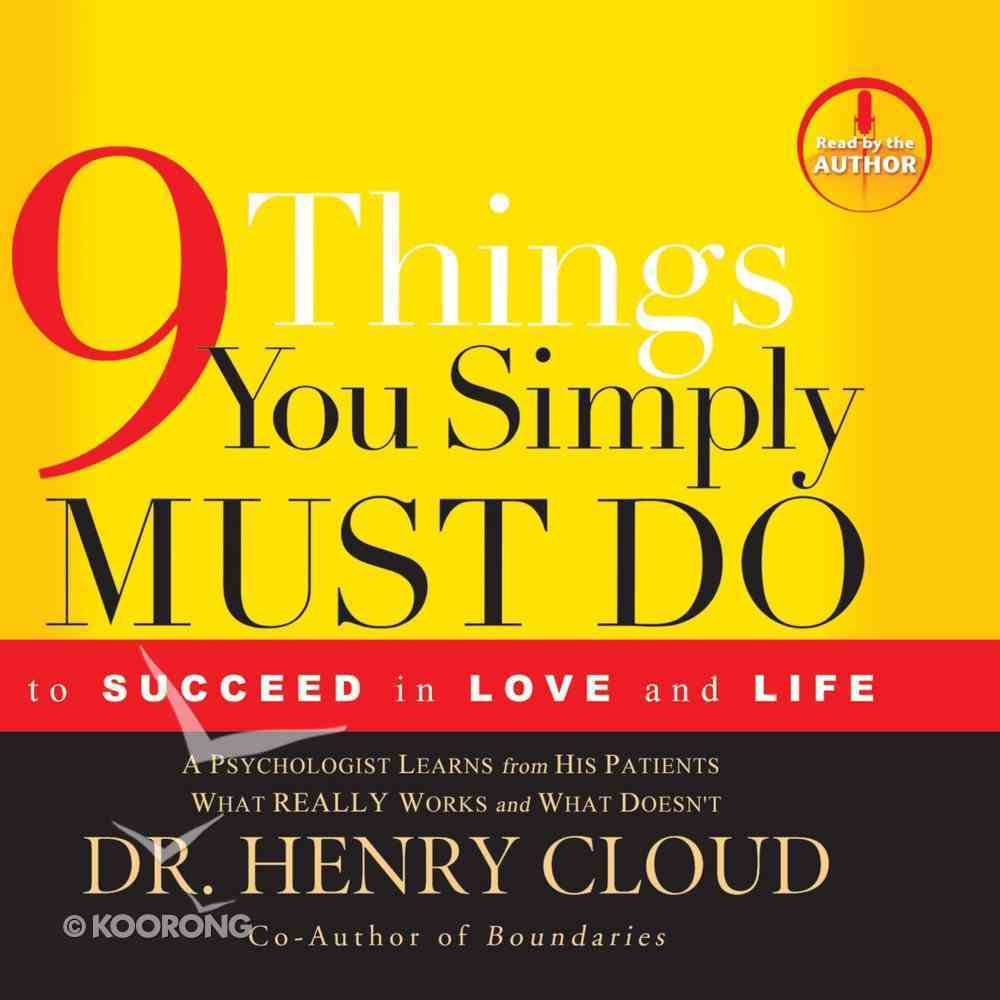 9 Things You Simply Must Do eAudio Book