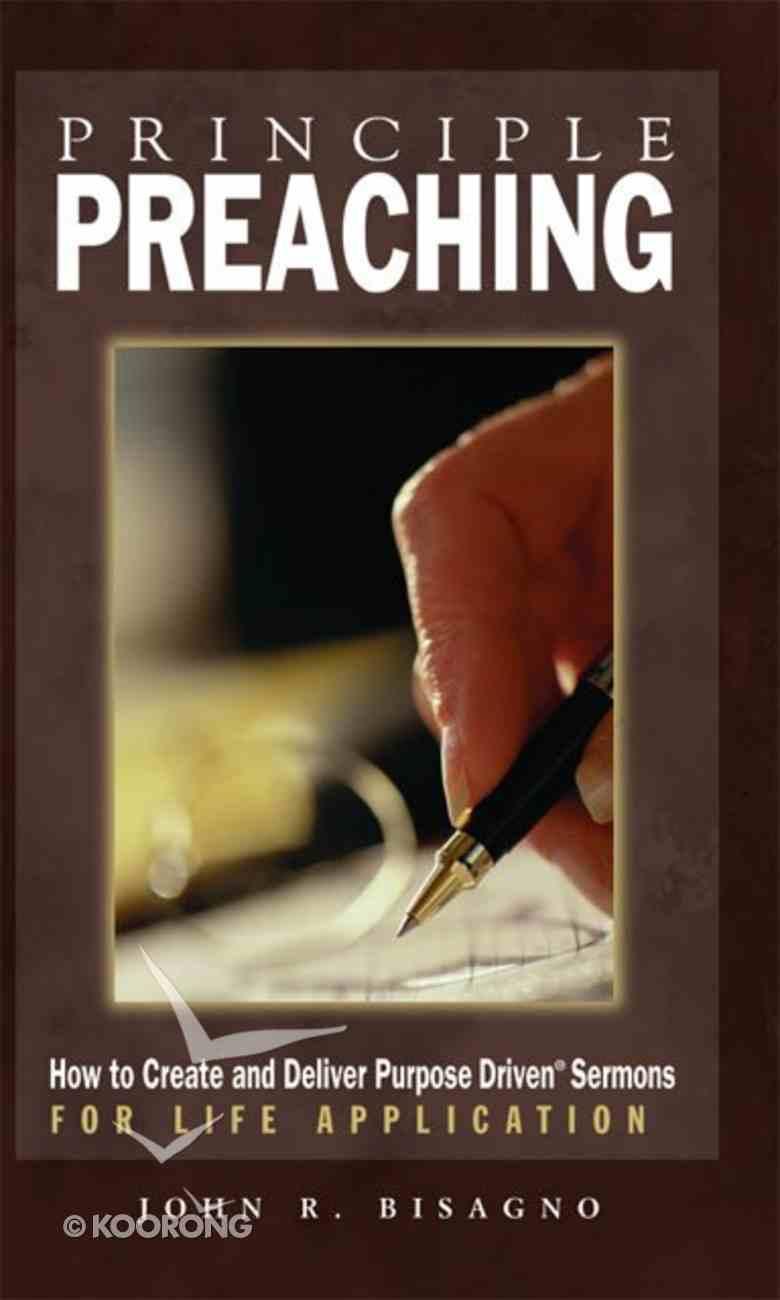 Principle Preaching Paperback