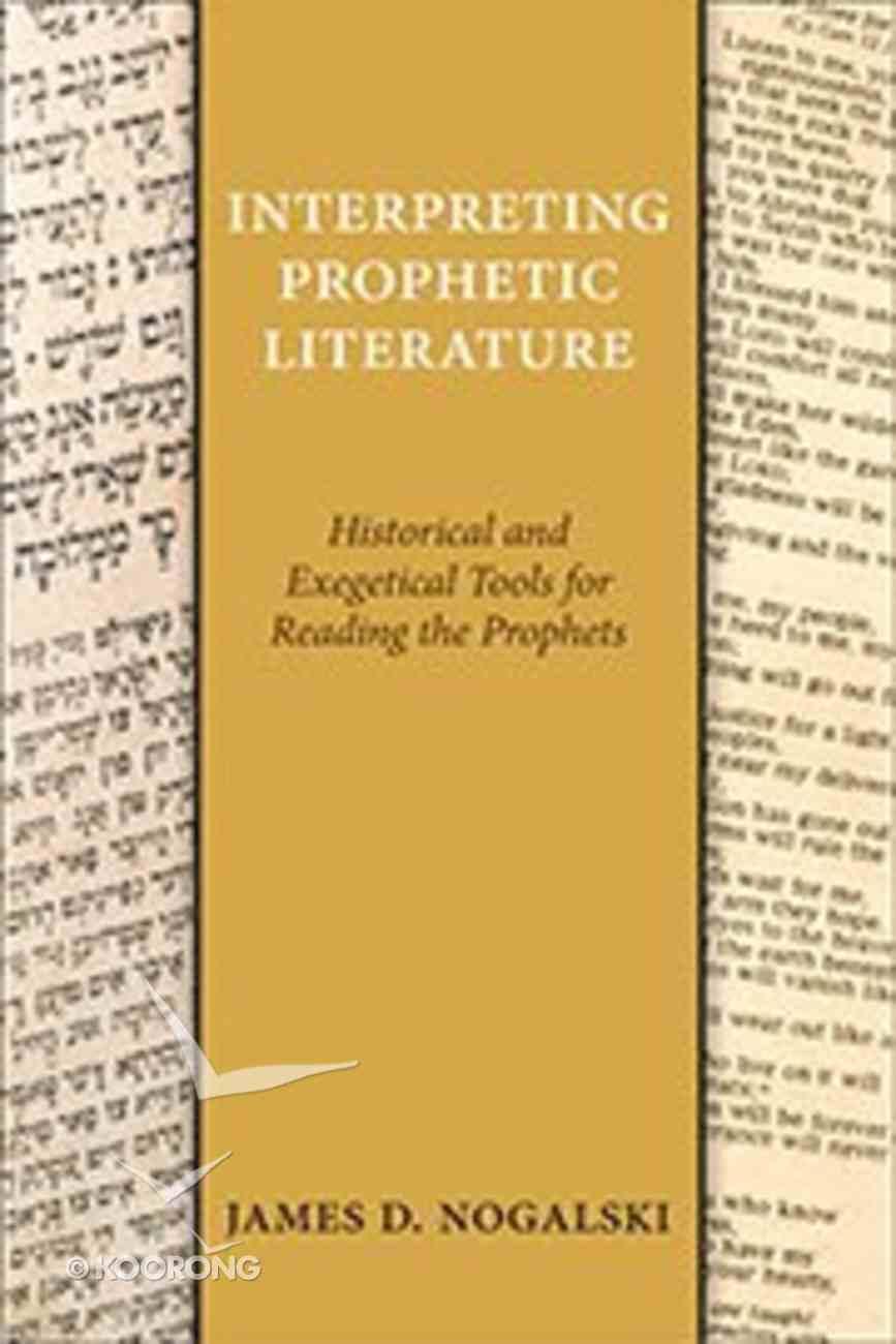 Interpreting Prophetic Literature Paperback
