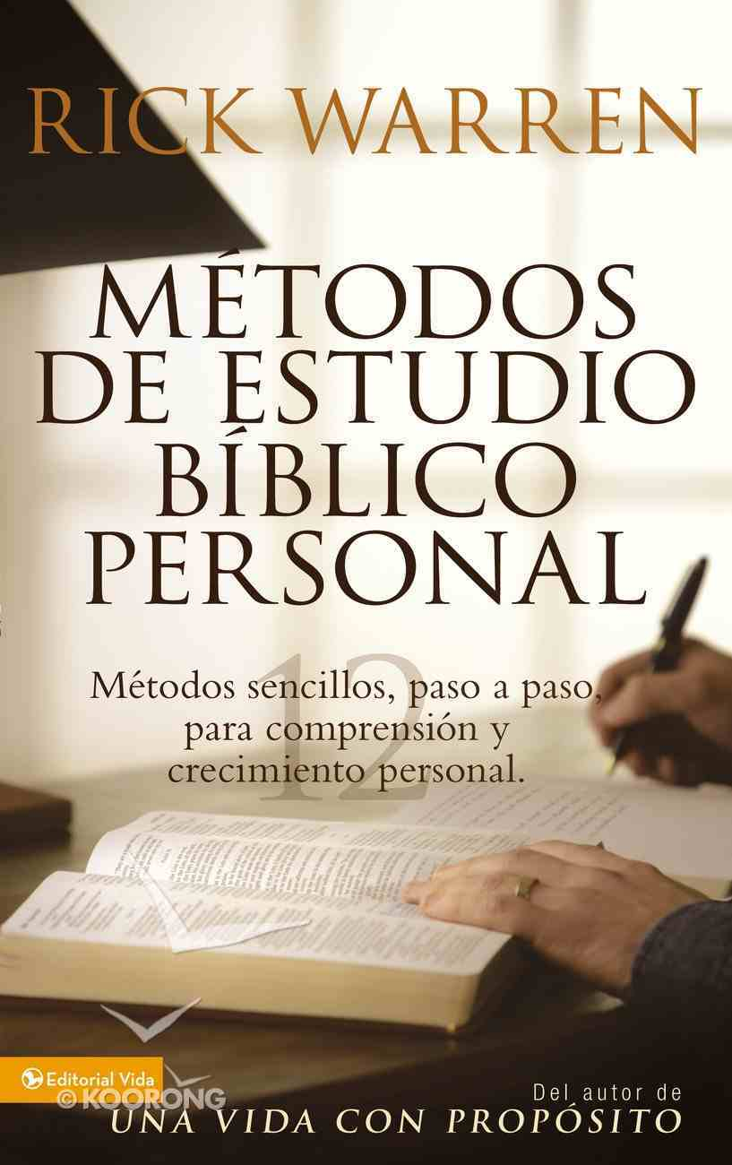 Personal Bible Study Methods (Spa) (Spanish) eBook