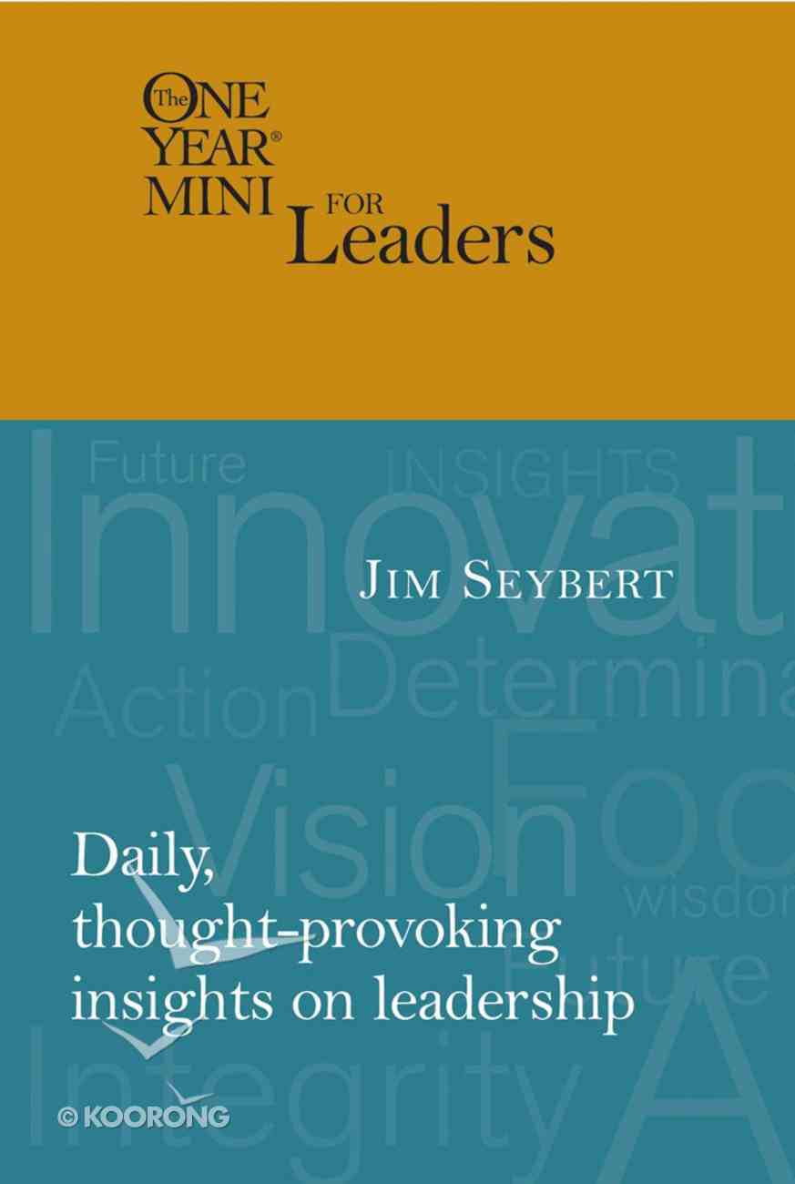 The One Year Mini For Leaders (One Year Minis Series) eBook
