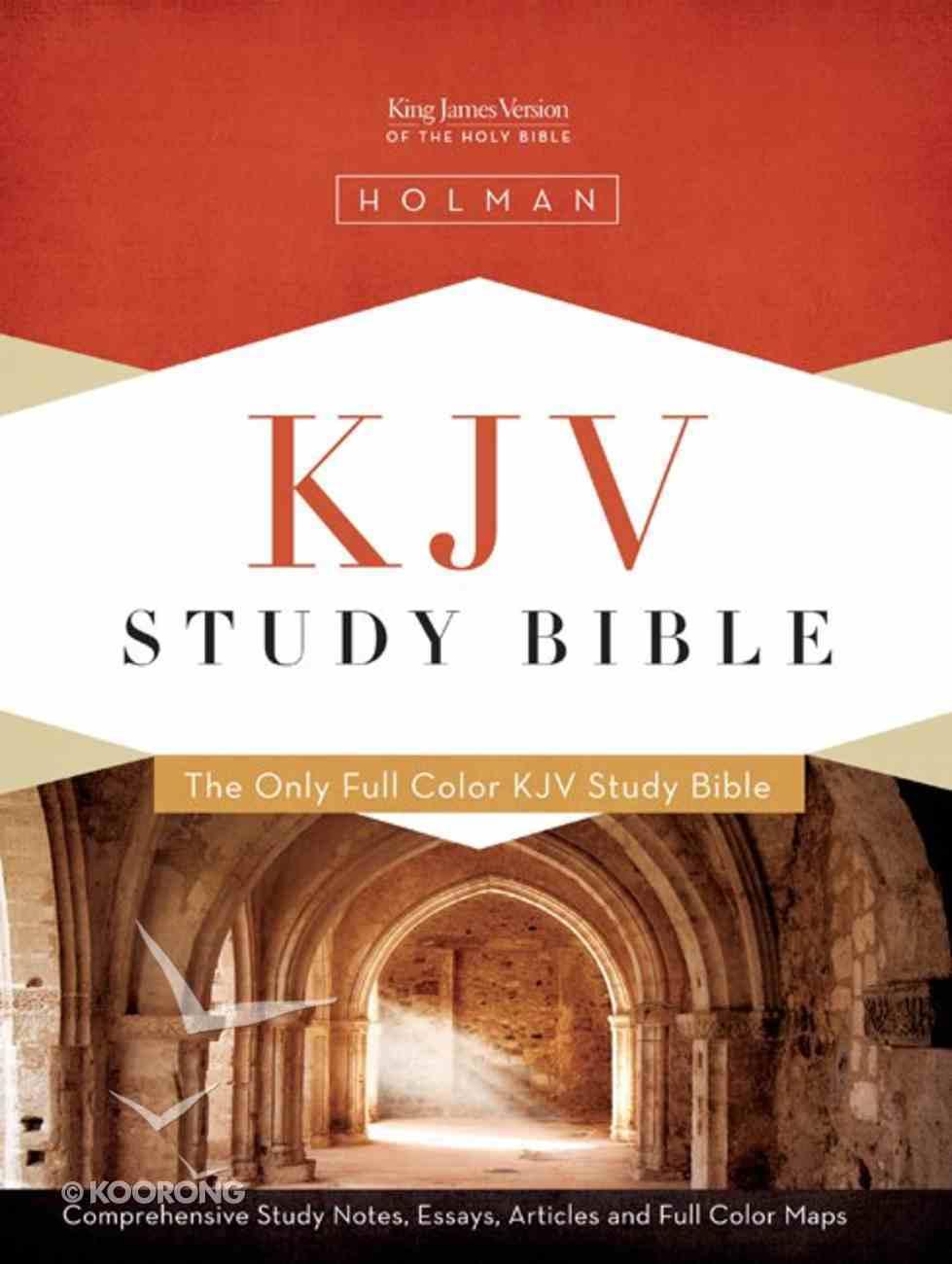 KJV Study Bible Black Indexed Genuine Leather