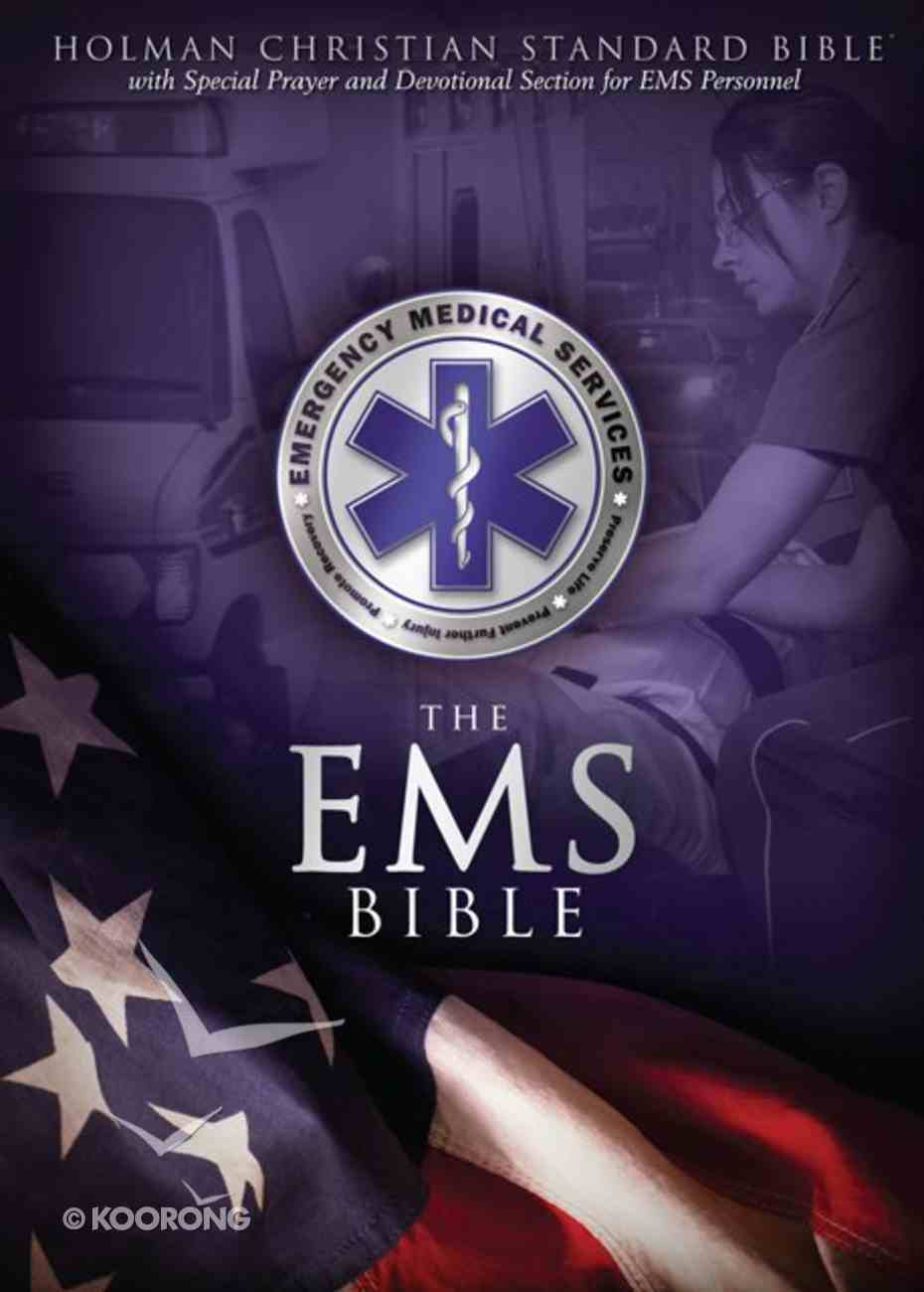 HCSB Emergency Medical Services Bible, Blue Leathertouch Imitation Leather