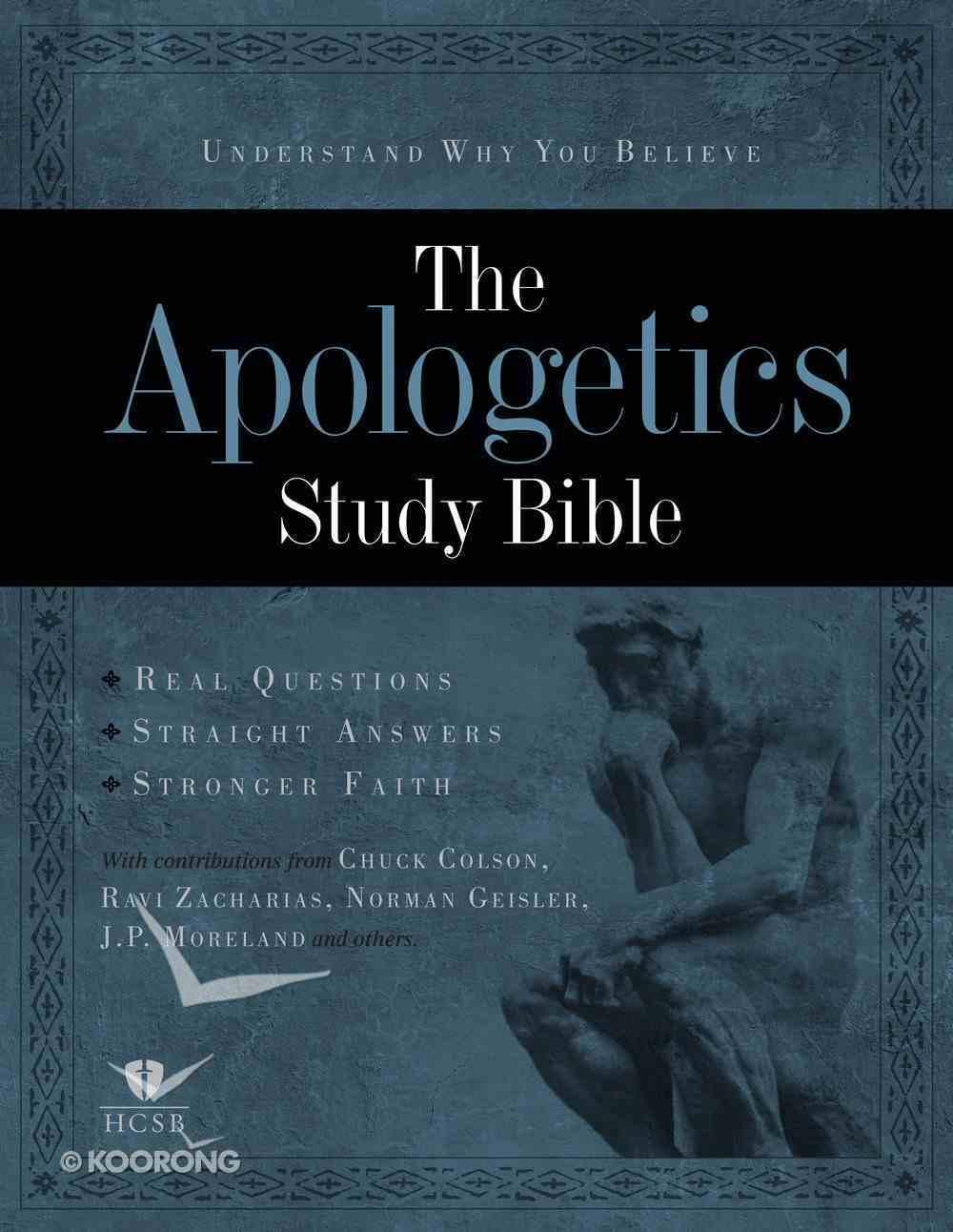 HCSB Apologetics Study Bible Black Genuine Leather (Indexed) Genuine Leather