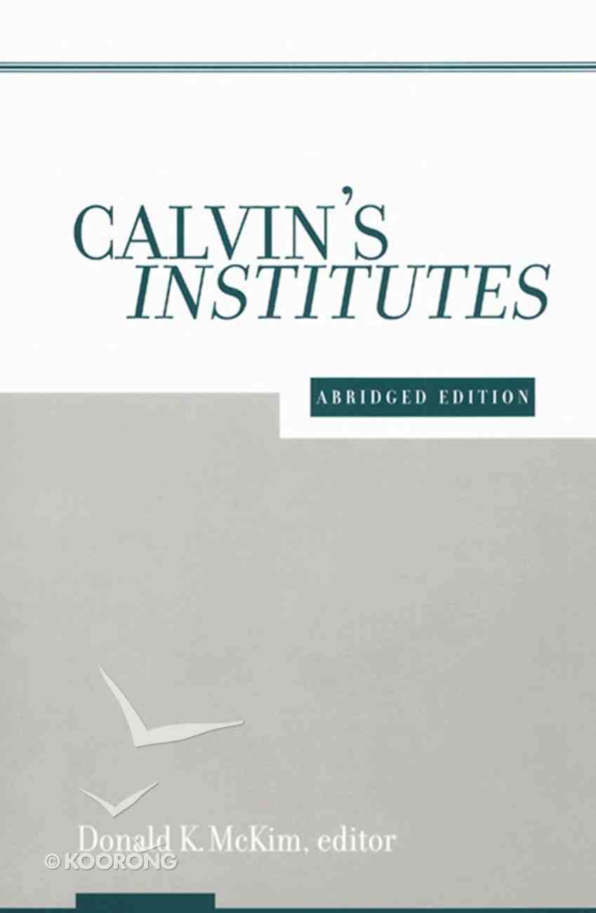 Calvin's Institutes eBook