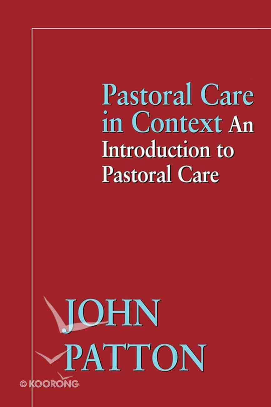 Pastoral Care in Context eBook