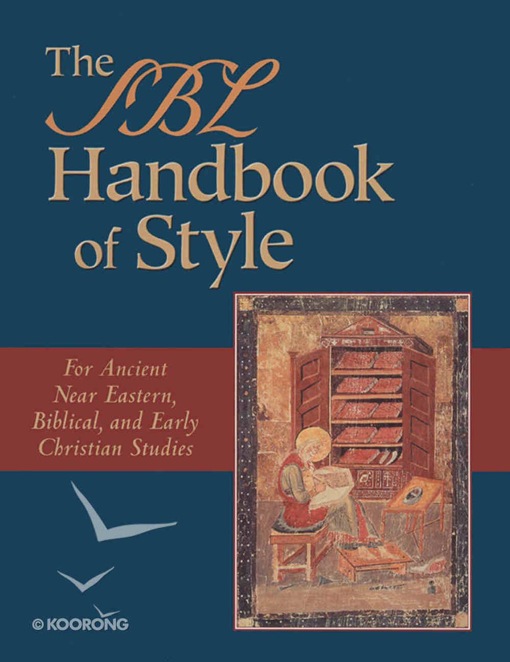 The Sbl Handbook of Style Hardback