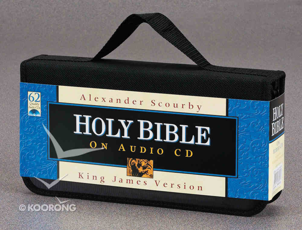 KJV Scourby Bible on Audio CD Voice Only CD