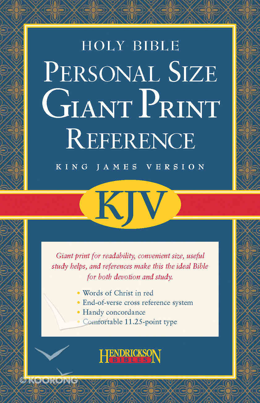 KJV Personal Size Giant Print Reference Black (Red Letter Edition) Imitation Leather