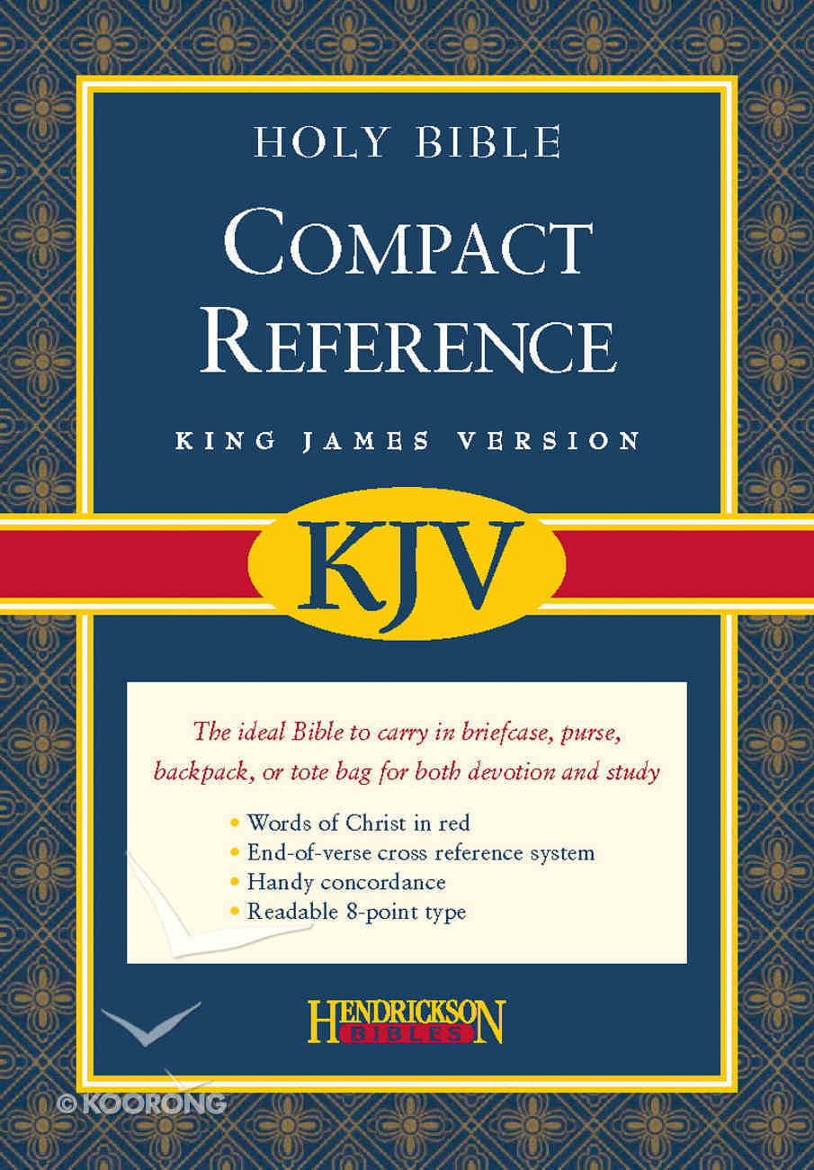 KJV Compact Reference Bible Black Magnetic Closure Bonded Leather
