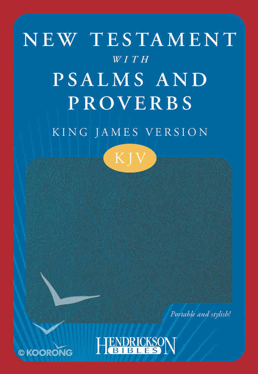 KJV New Testament With Psalms and Proverbs Blue Imitation Leather