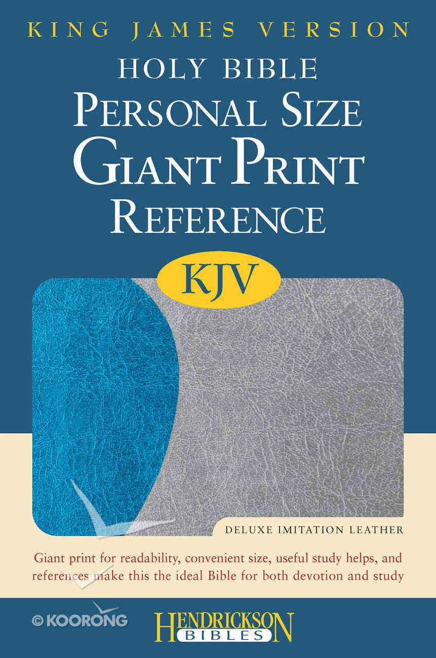 KJV Personal Size Giant Print Reference Bible Blue/Gray Flexisoft Imitation Leather