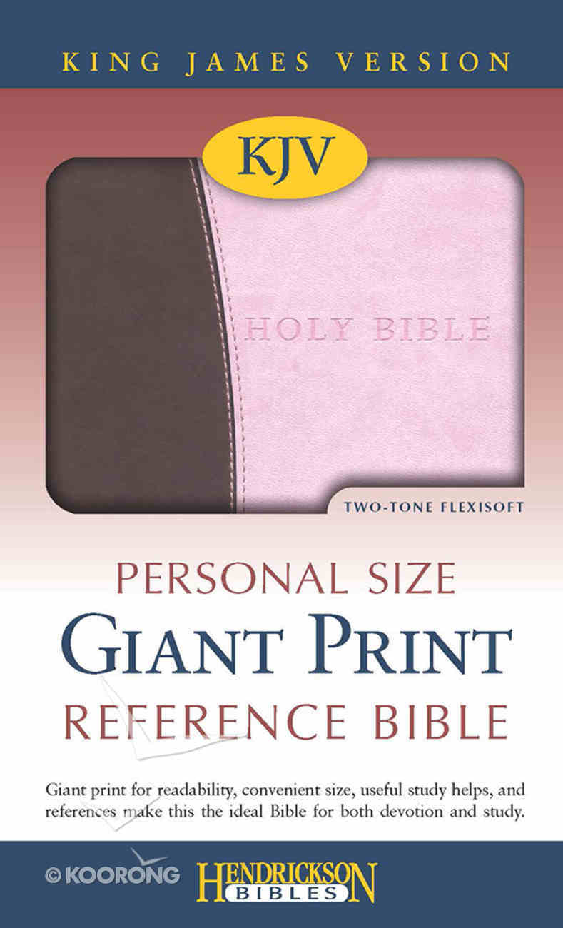 KJV Personal Size Giant Print Reference Bible Pink/Chocolate Flexisoft Imitation Leather
