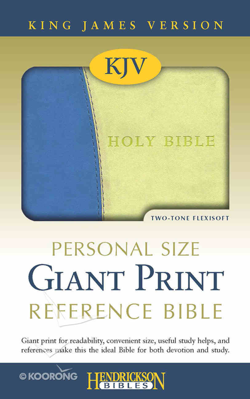 KJV Personal Size Giant Print Reference Bible Blue/Lime Green Flexisoft Imitation Leather