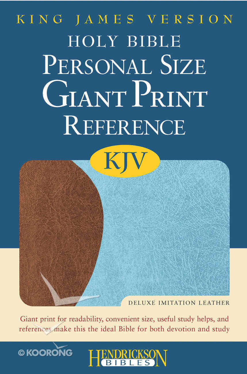 KJV Personal Size Giant Print Reference Bible Chocolate/ Blue Red Letter Edition Imitation Leather