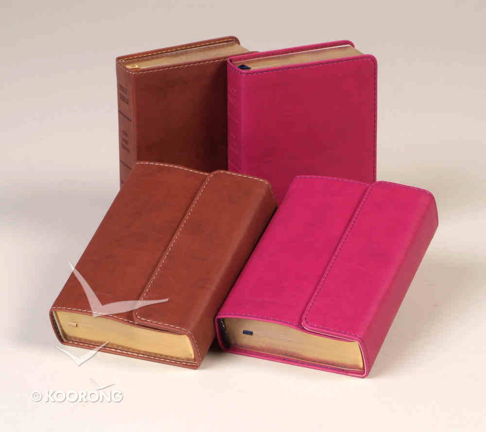 KJV Hendrickson Compact Reference Large Print With Magetic Flap Closure Berry Imitation Leather