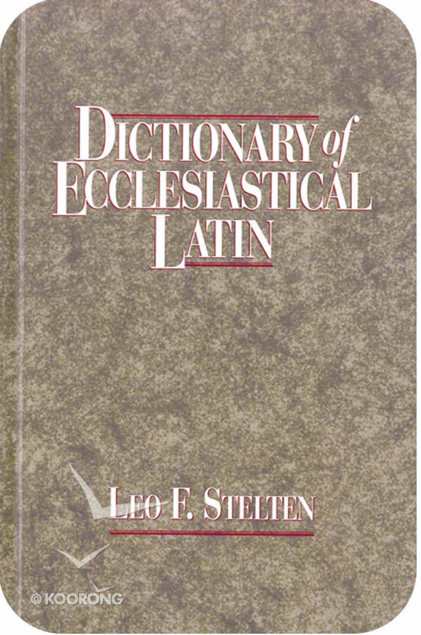 Dictionary of Ecclesiastical Latin eBook