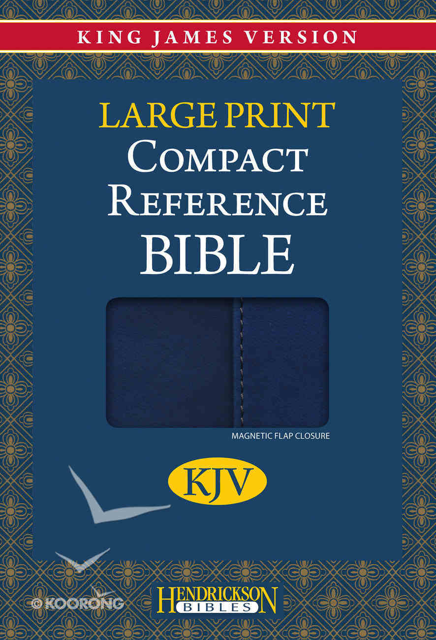 KJV Hendrickson Compact Reference Large Print Blue With Magnetic Flap Imitation Leather
