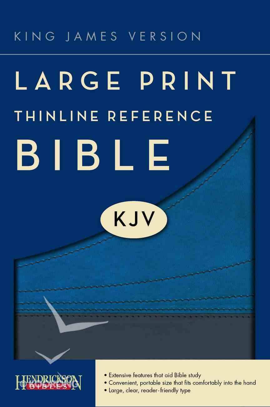 KJV Large Print Thinline Reference Bible Slate/Blue Imitation Leather