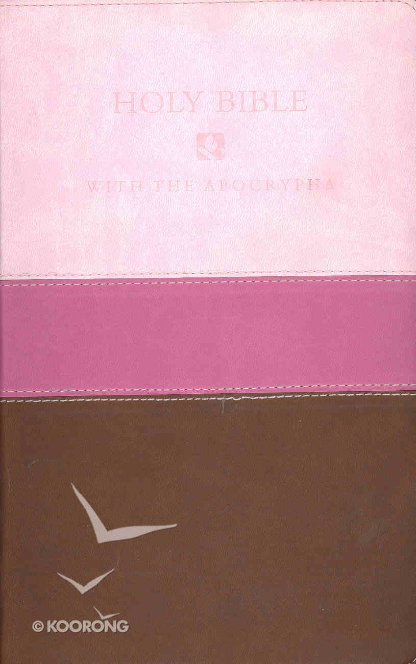 NRSV Deluxe Gift Bible With Apocrypha Chocolate/Pink Imitation Leather