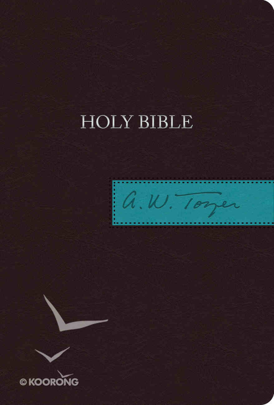 KJV a W Tozer Bible Brown/Teal Thumb Indexed (Red Letter Edition) Imitation Leather