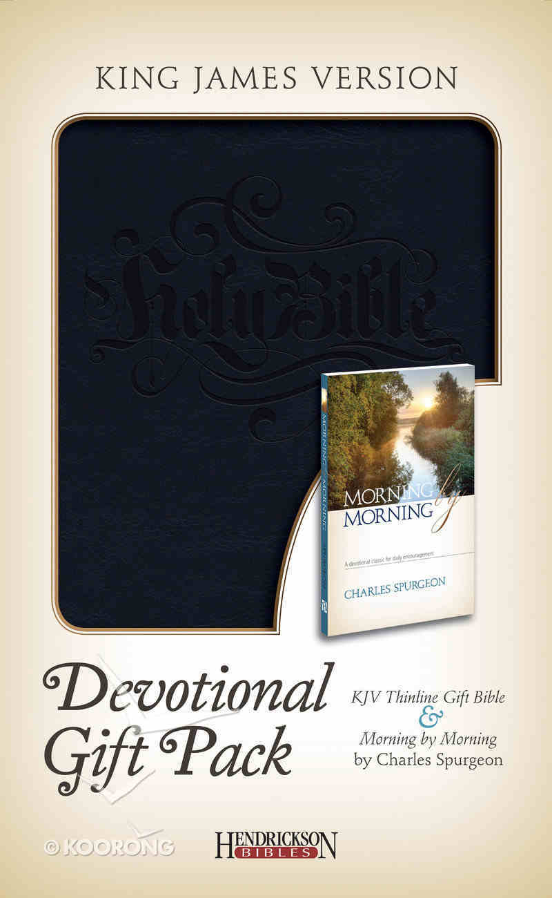 KJV Devotional Gift Pack Black With Black Stamping Pack