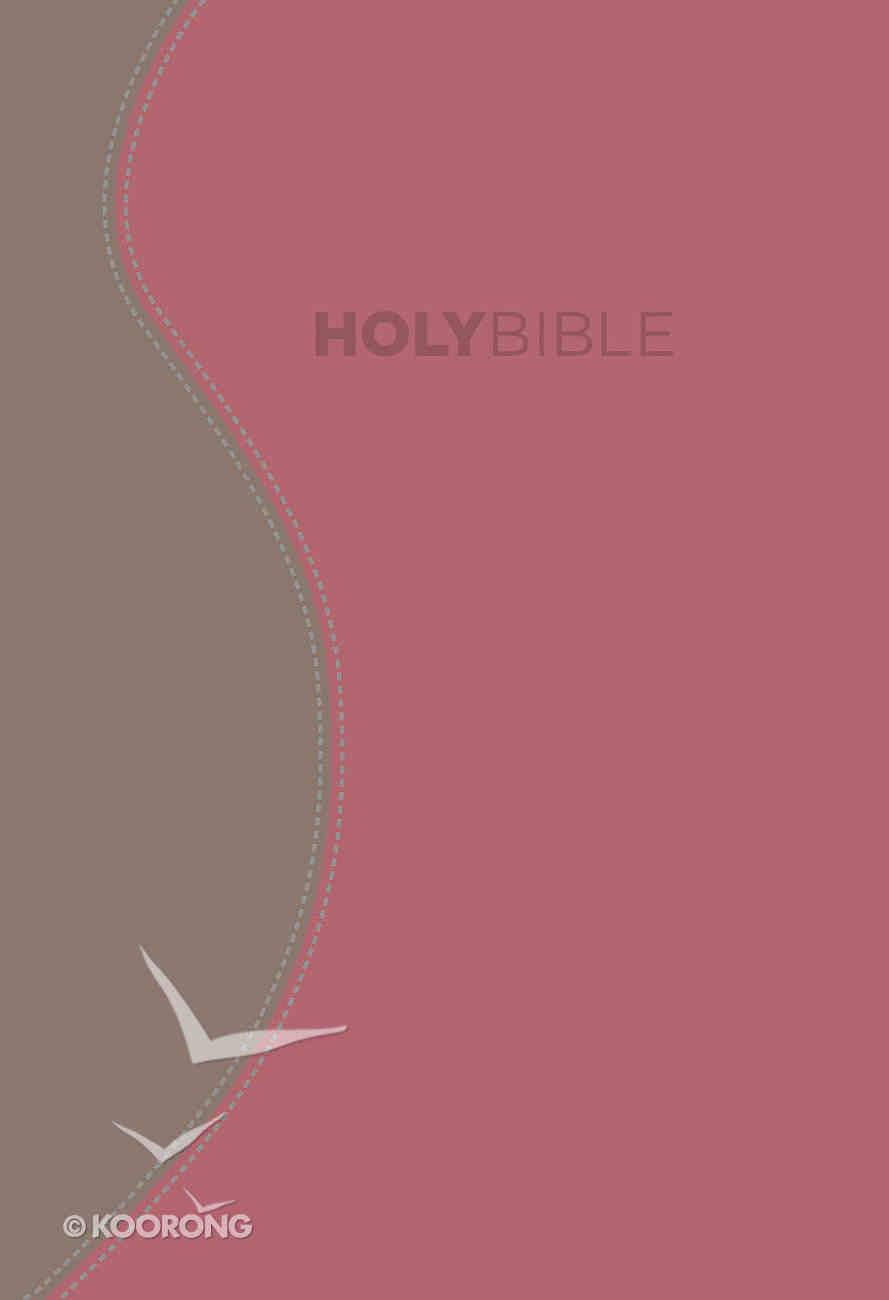 KJV Fire Bible Rose and Khaki Flexisoft Imitation Leather
