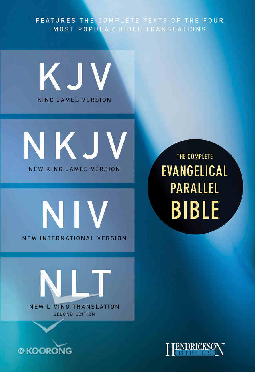 Kjv/Nkjv/Niv/Nlt Complete Evangelical Parallel Black Bonded Leather