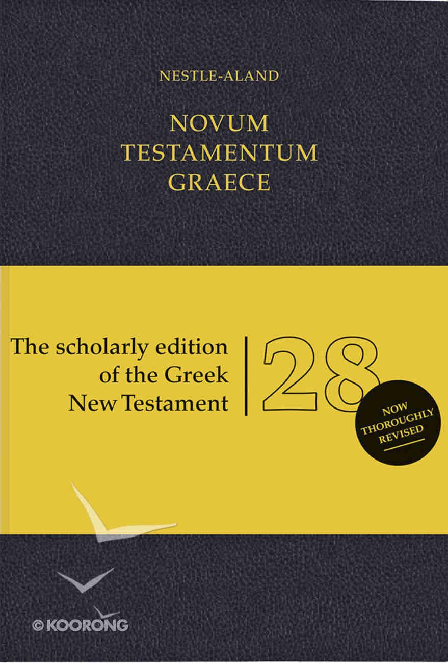 Novum Testamentum Graece Nestle-Aland 28Th Edition Black Flexibind (Na28) (Novum Testamentum Graece Series) Flexi Back