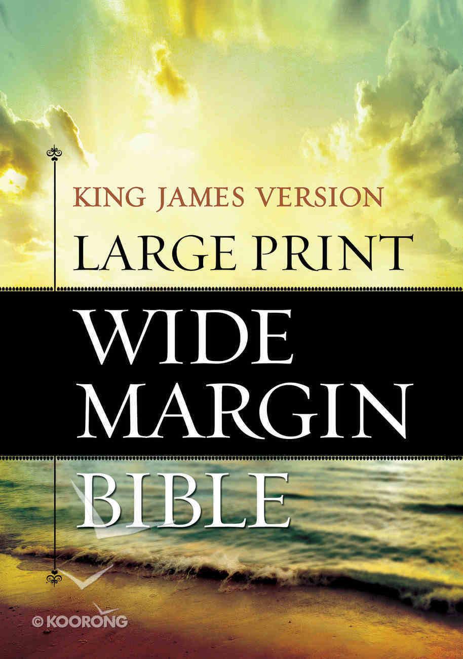 KJV Large Print Wide Margin Bible Hardback
