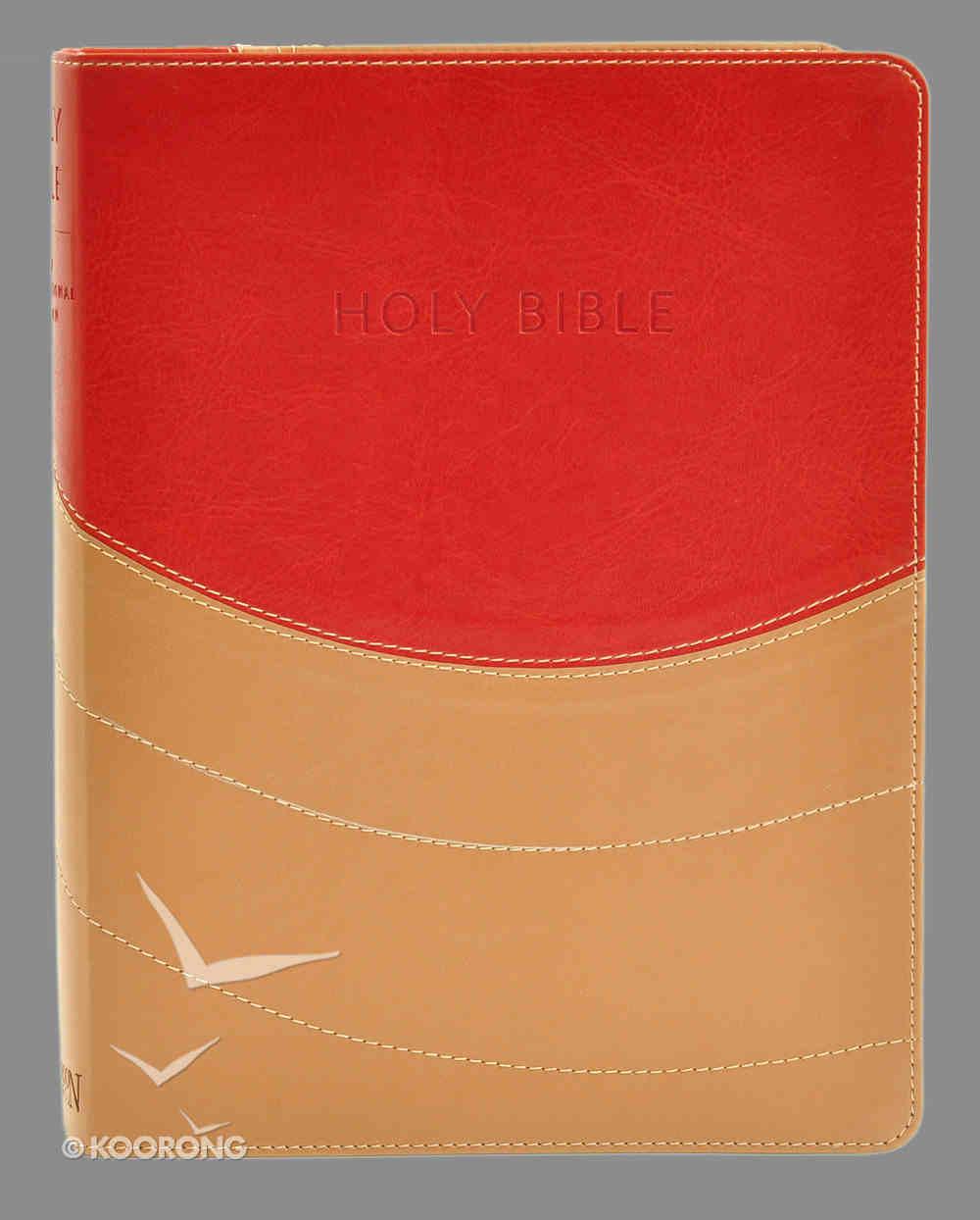 NIV Ministry Essentials Bible Brick Red/Sand Imitation Leather