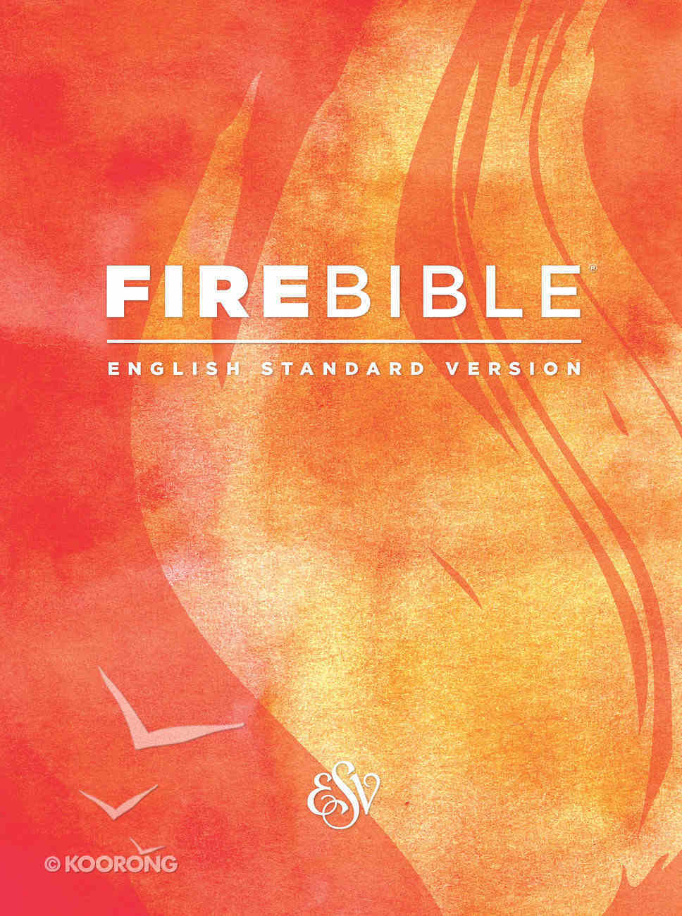 ESV Fire Study Bible Black Genuine Leather