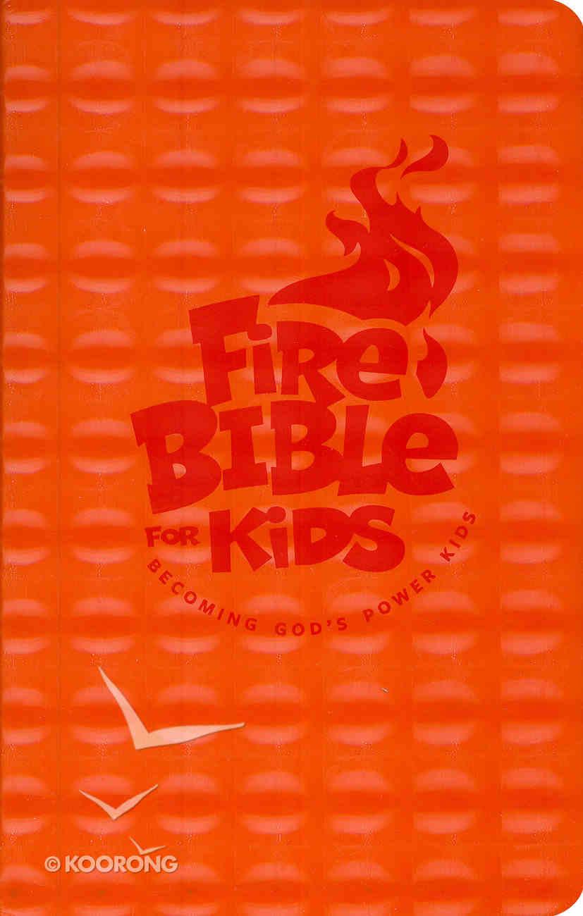 NKJV Fire Bible For Kids Orange Flexisoft Imitation Leather