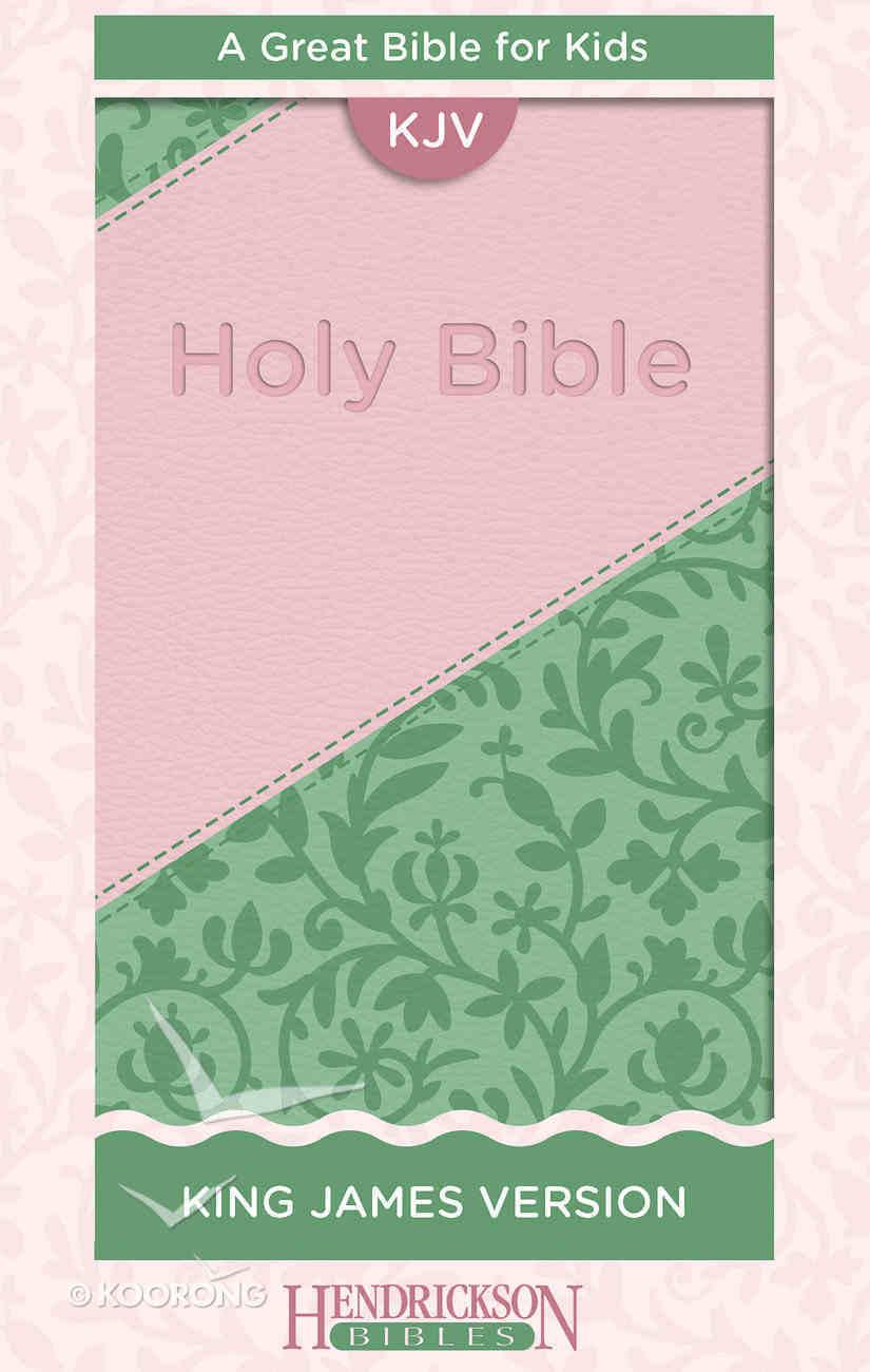 KJV Kids Bible Pink/Green Flexisoft Imitation Leather