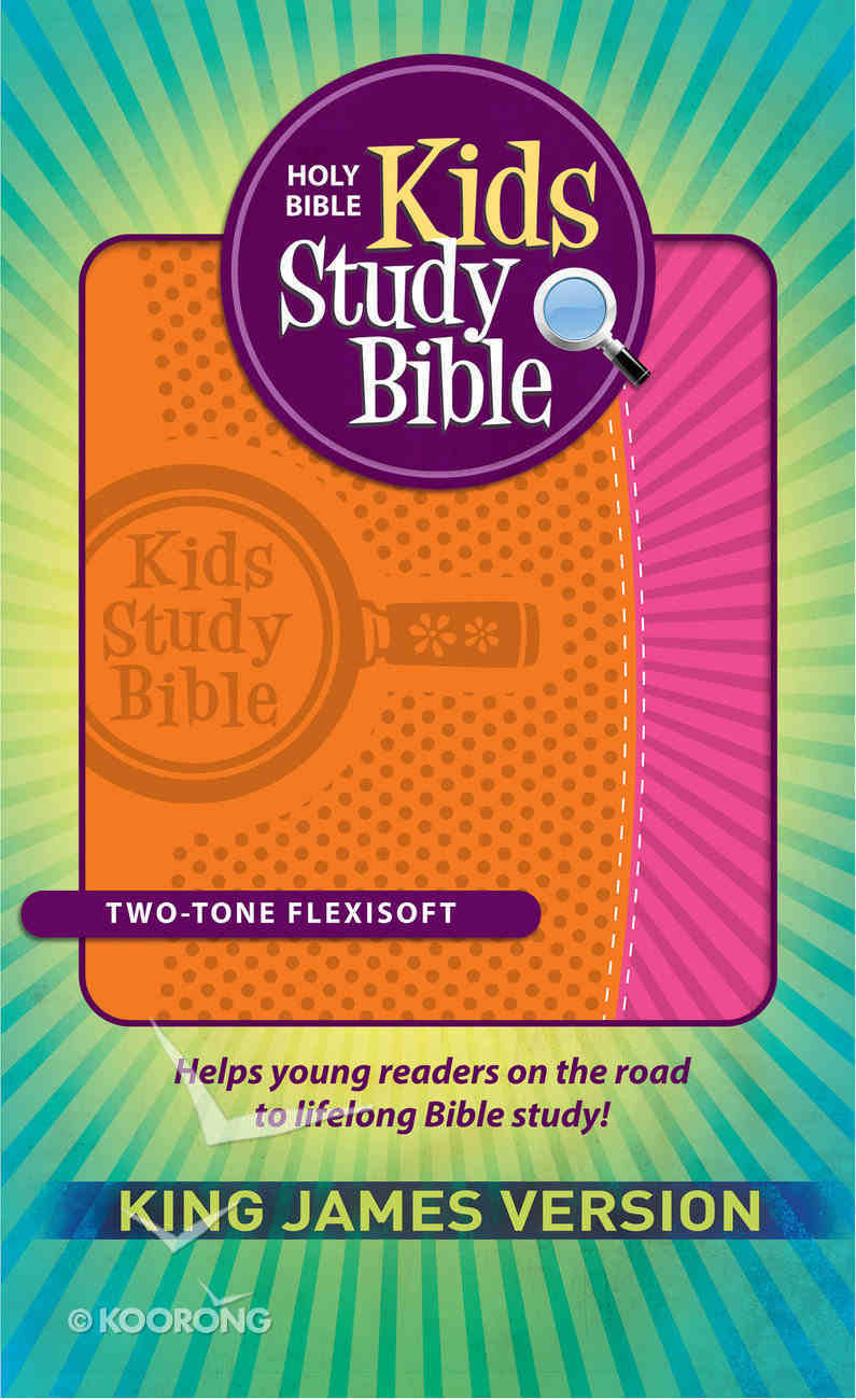 KJV Kids Study Bible Orange/Pink Flexisoft Imitation Leather